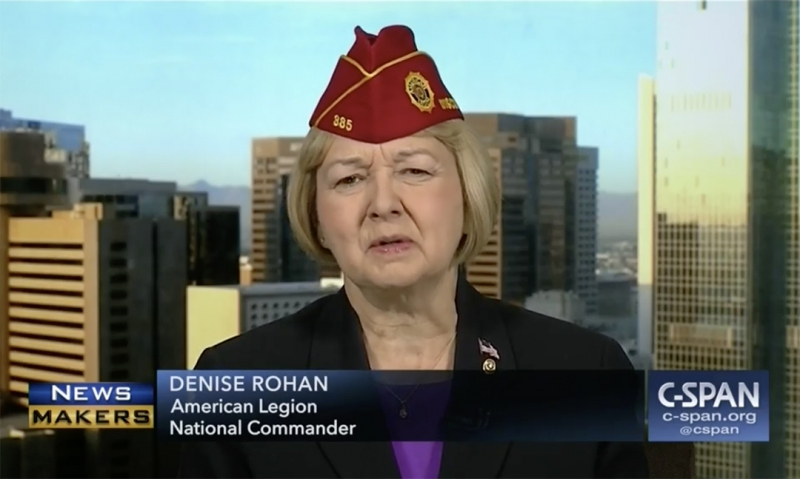 National commander featured on C-SPAN