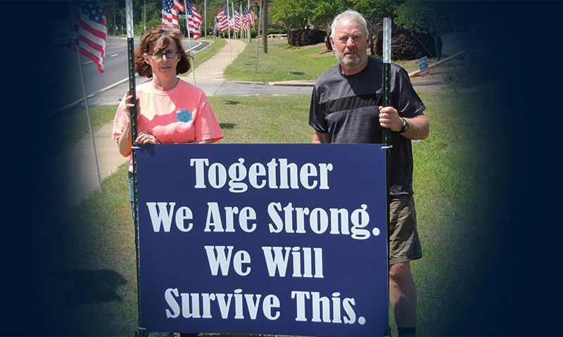 American Legion post's message to community: 'We will survive this'