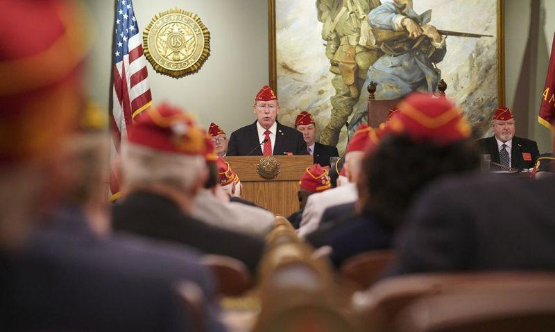 Commander Reistad addresses Legion leadership