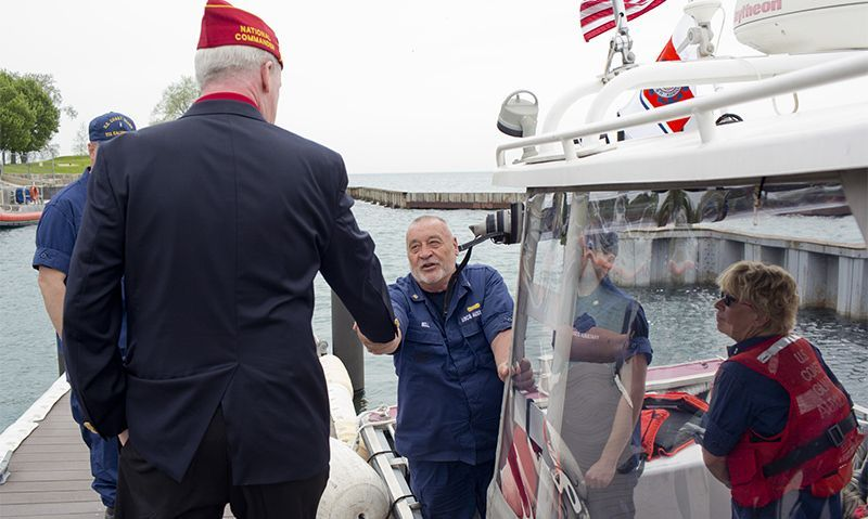 Illinois Coast Guardsmen share gratitude to the Legion