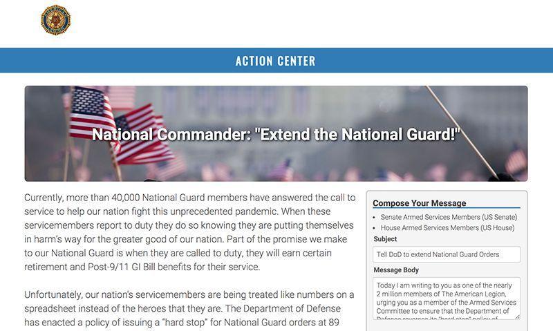 Commander: contact Washington to help National Guard