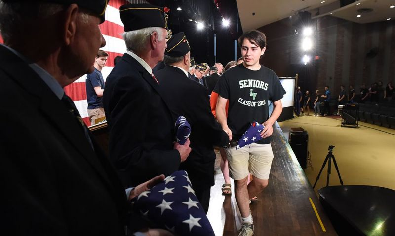 Flags for Freedom: grads remember fallen alum