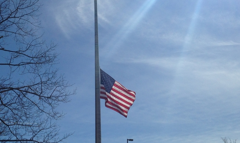 Receive text alerts when U.S. flag is to be at half-staff