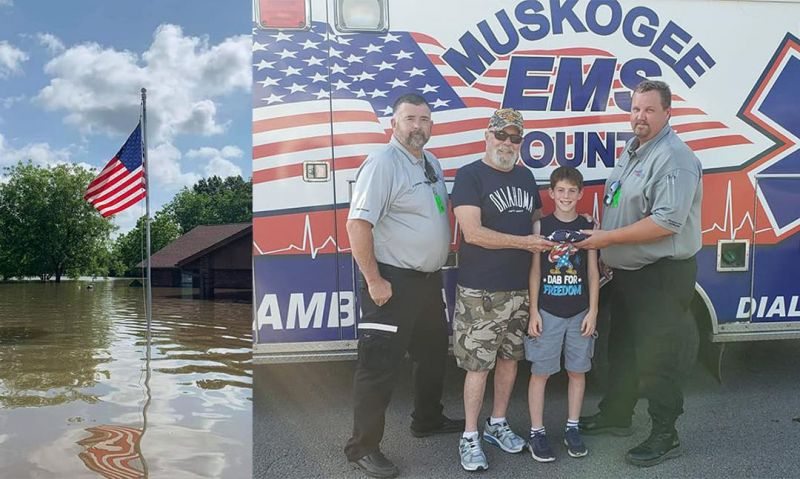 'Old Glory flies again' following Oklahoma flood