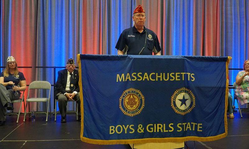 Legion Family leadership speak to Massachusetts Boys and Girls State
