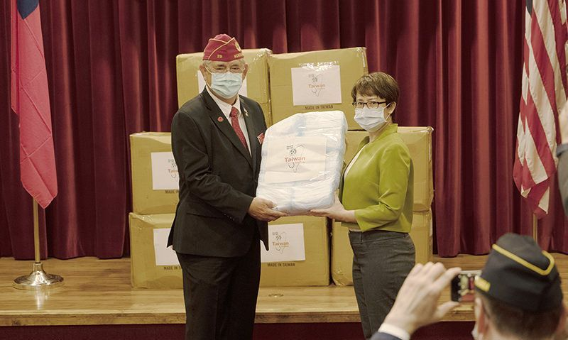 A gesture of goodwill: Taiwan donates 250,000 medical masks to The American Legion