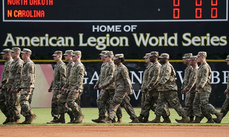 American Legion teams honored to play on USAA Military Appreciation Day