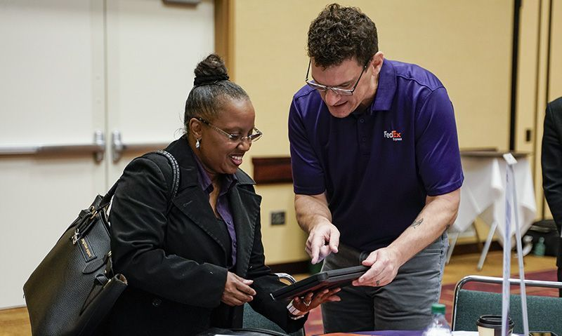 Career fair gives job seekers, employers chance to interact