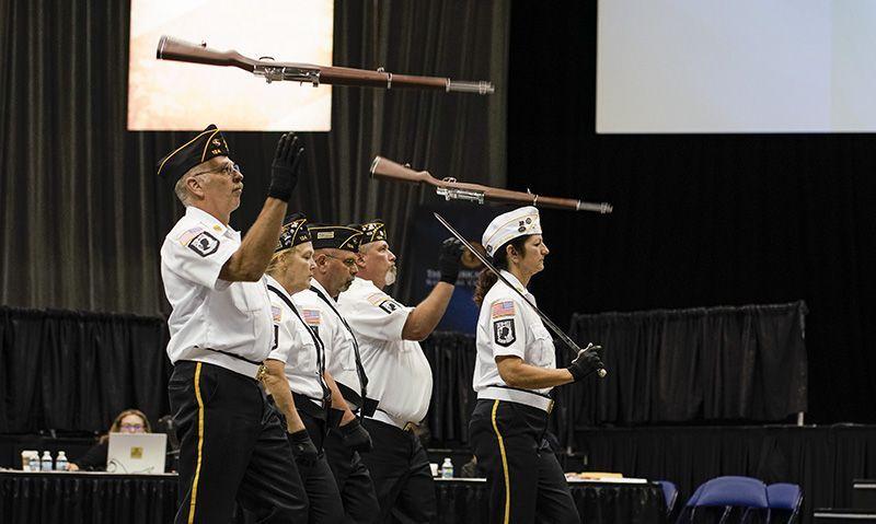 Color guard contest a Legion Family affair