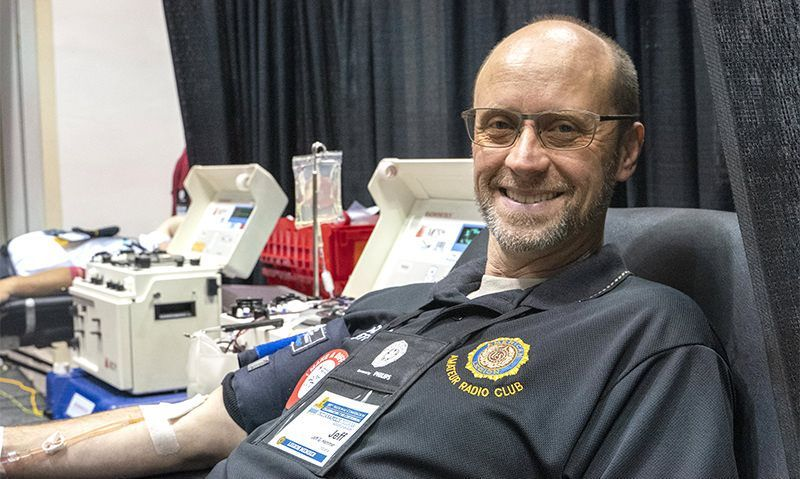 Give blood while in Indianapolis for convention