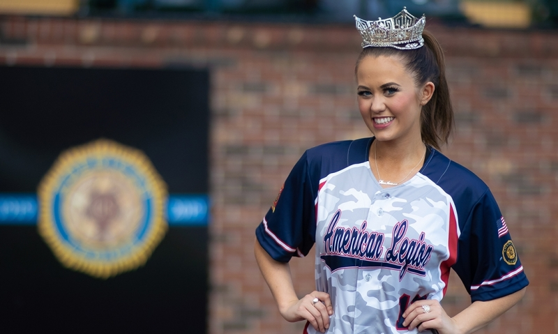Miss America, a lifelong Auxiliary member, attends American Legion World Series