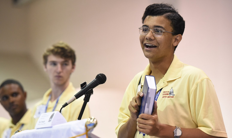 Another honor for 2016 Boys Nation president