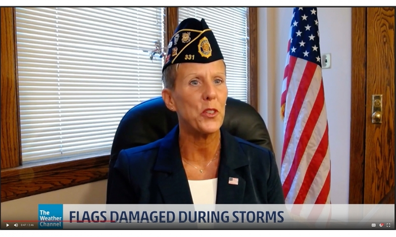 Legion discusses flag etiquette during extreme inclement weather