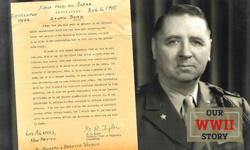 OUR WWII STORY: Legion founder, Manhattan Project officer