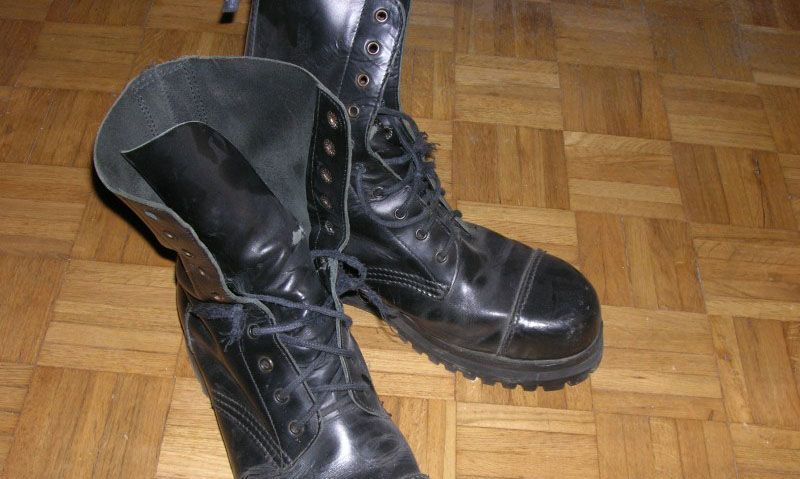 The tall black boots