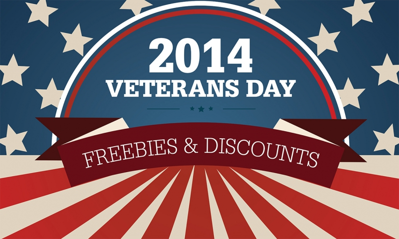 Take advantage of Veterans Day offers