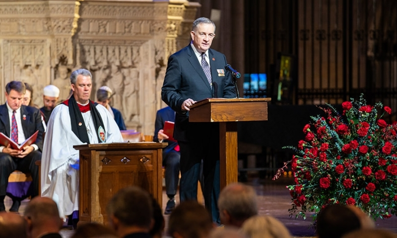 National Cathedral tolls bells for Armistice Day centennial