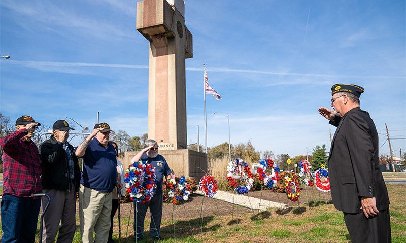 A day of celebration at the Bladensburg veterans memorial