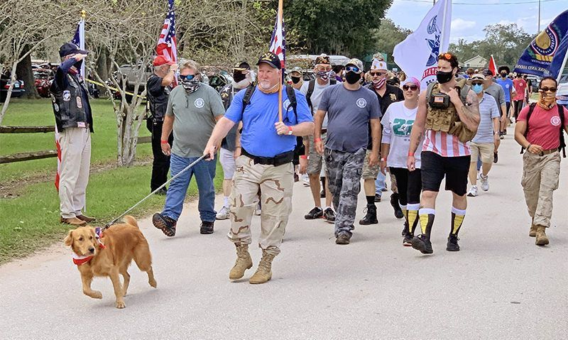 Challenge 22: Florida post marches to fight veteran suicide