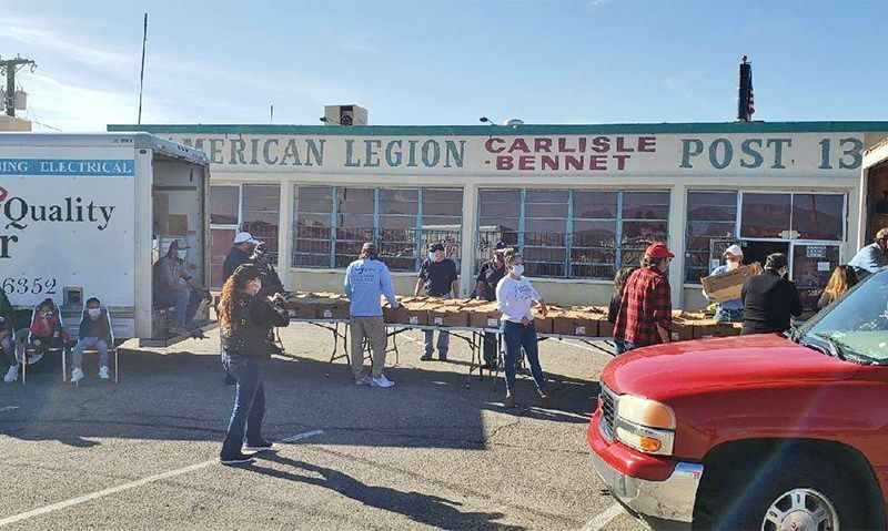 American Legion Family again provides Thanksgiving memories for others