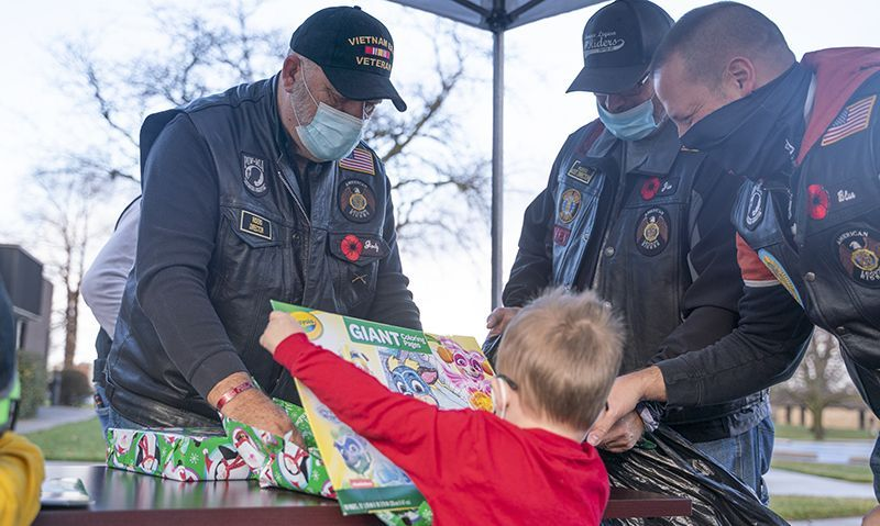 Legion Riders bring Christmas to Indy foster children