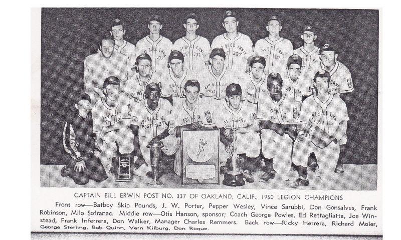 American Legion Baseball before the regional system