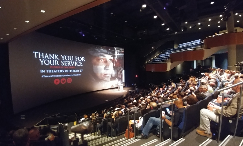 National commander views special screening of 'Thank You for Your Service'