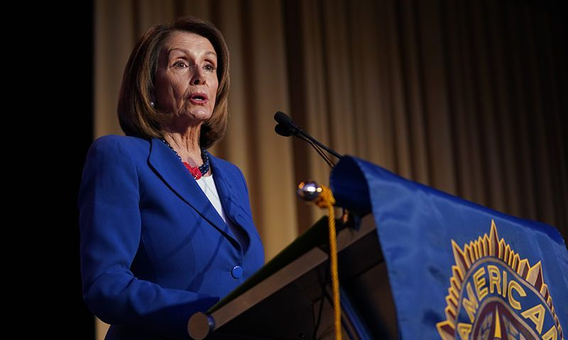 Pelosi to Legion: 'We must fight privatization'