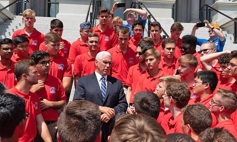 Wednesday at Boys Nation 2019: A visit with the vice president