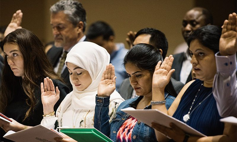 Legion Family part of naturalization ceremony of 99 new U.S. citizens