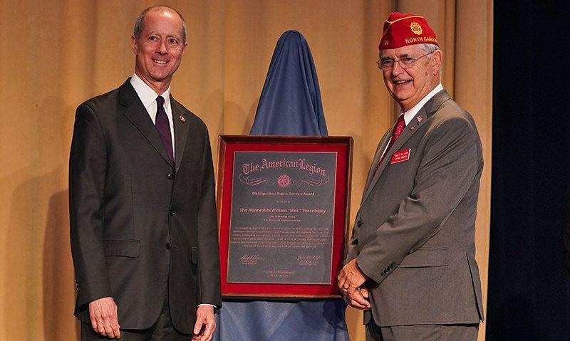 Thornberry presented American Legion's Distinguished Public Service Award