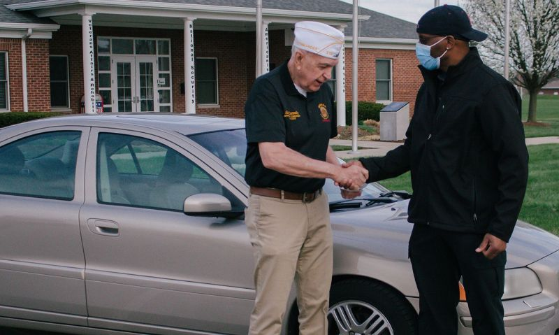 Indiana Legion helps provide veteran with much-needed car
