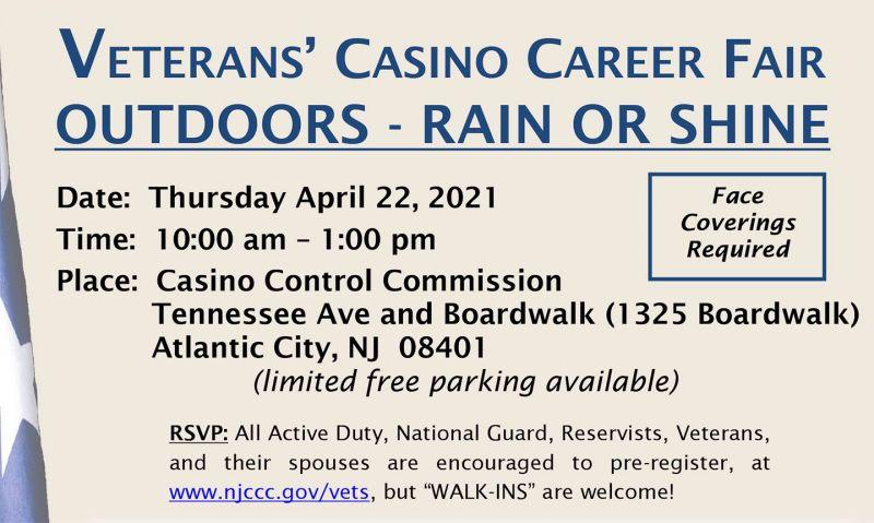 Veterans casino career fair set for April 22