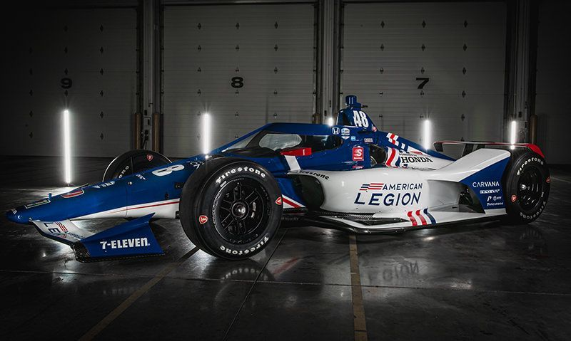 Chip Ganassi Racing reveals Indianapolis 500 American Legion paint scheme in social media video blitz