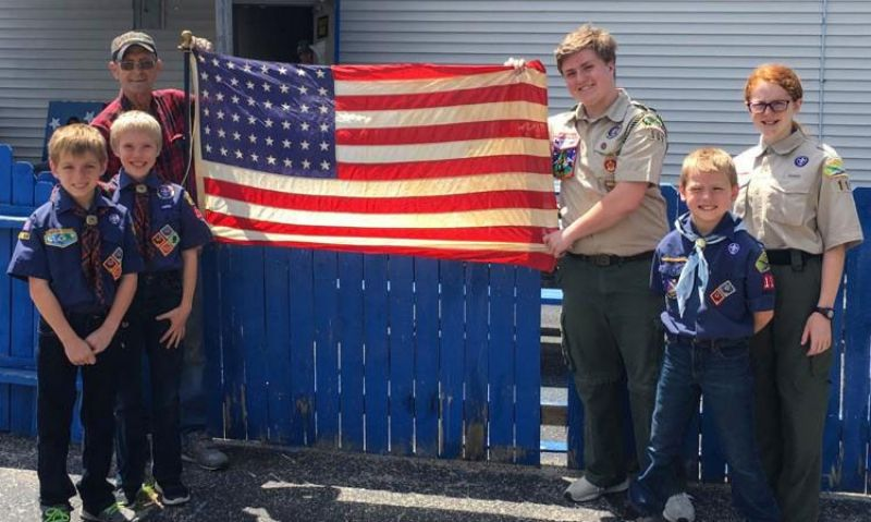 Older Old Glory provides a teaching moment