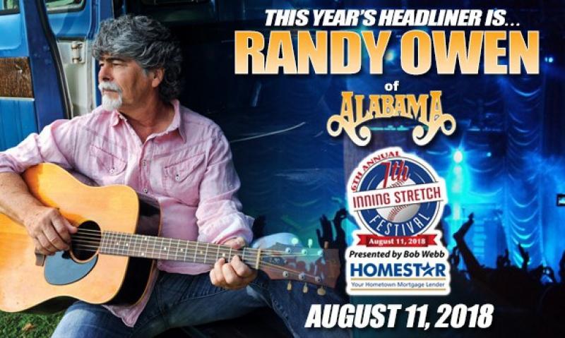 Randy Owen to headline ALWS 7th Inning Stretch Festival