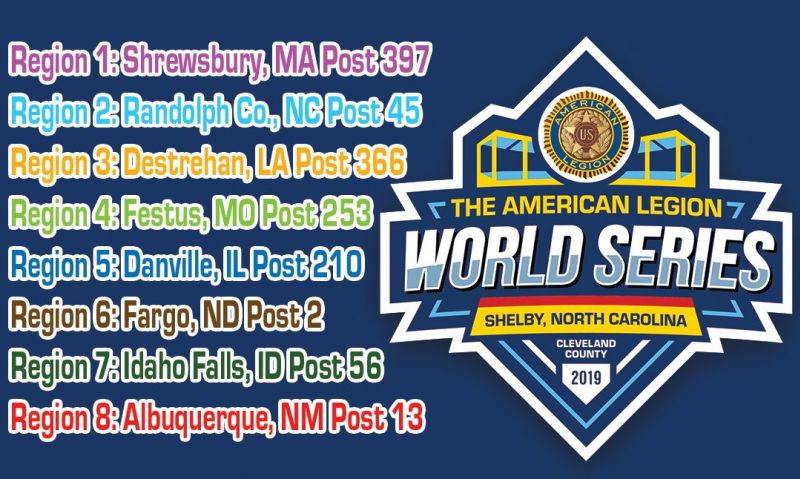 Eight teams punch ticket to 2019 American Legion World Series