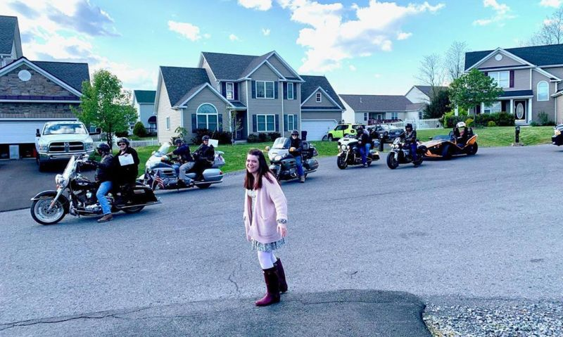 Legion Riders provide socially distanced birthday surprise to 16-year-old