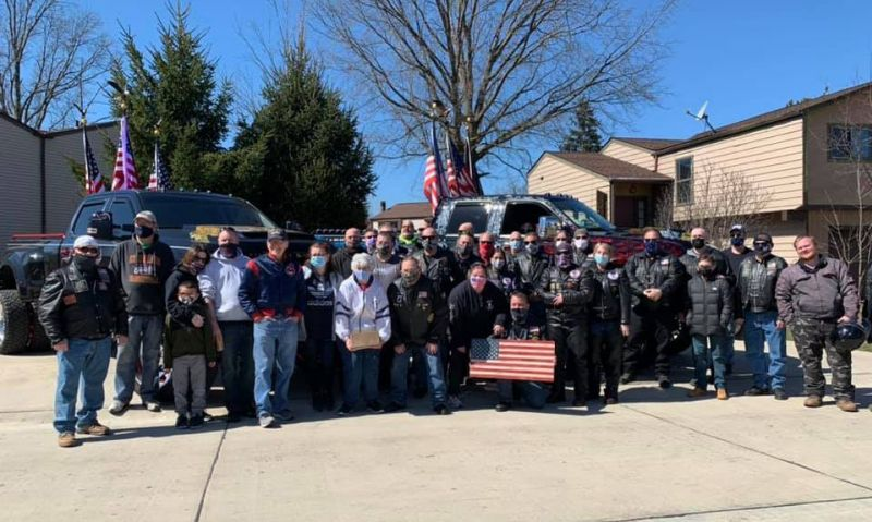 Ohio Legion Riders provide birthday surprise to young boy recovering from COVID-19