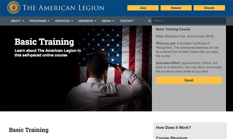 Free online American Legion training program now available