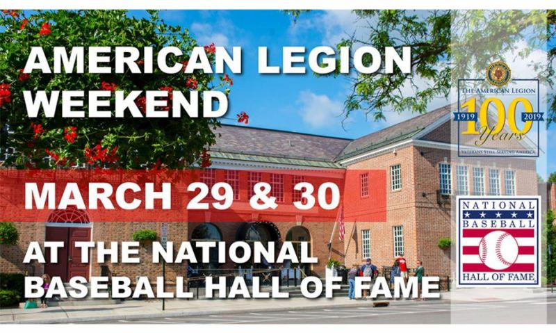 Baseball Hall of Fame to host American Legion Weekend
