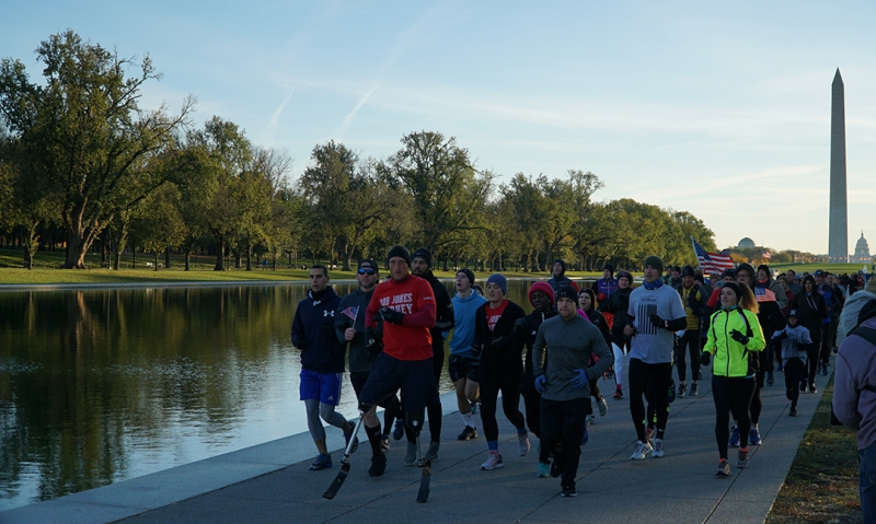 Double amputee veteran runs 31 marathons in 31 days