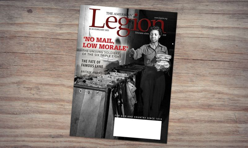February American Legion Magazine salutes the Six Triple Eight