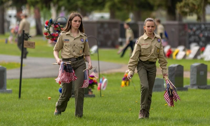 Auxiliary youth member part of first female class to earn Eagle Scout