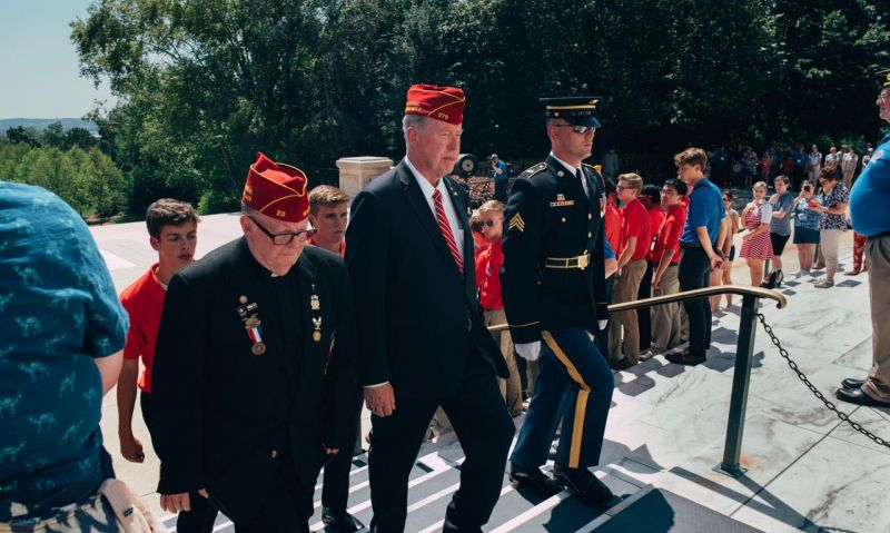 Monday at Boys Nation 2019: Wreath-laying at Arlington a moving experience