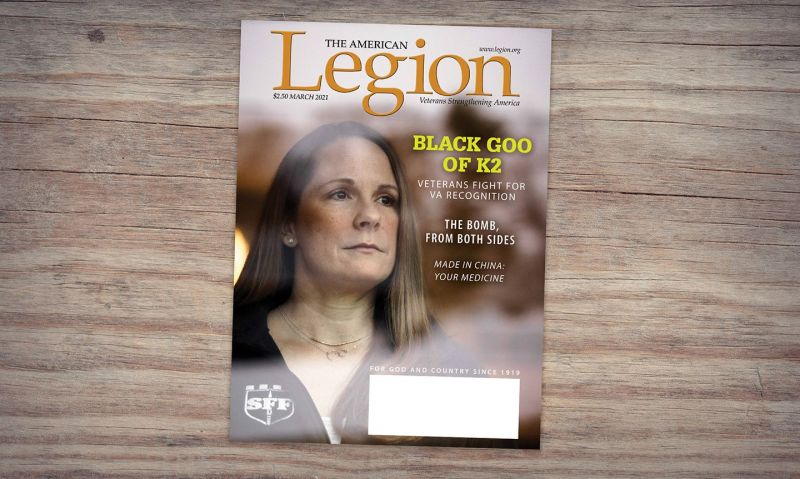 March American Legion Magazine shines light on K2 toxic exposure
