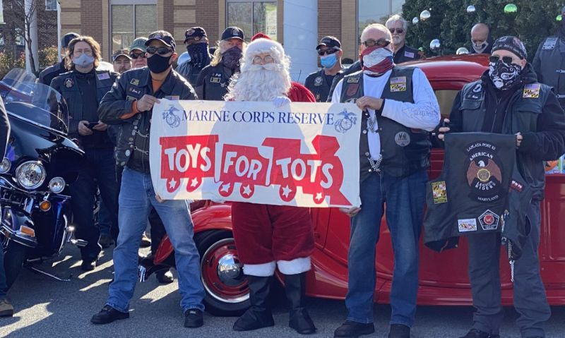 Maryland Legion Riders deliver Toys for Tots