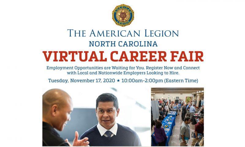 Department of North Carolina sponsoring Nov. 17 virtual career fair