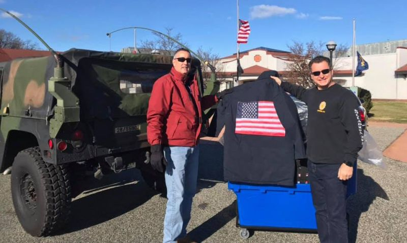New Jersey post provides coats to veterans