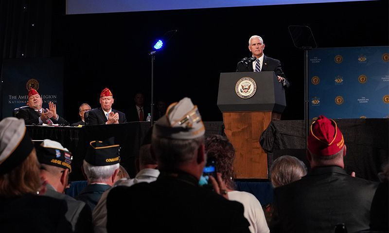 Pence says American Legion 'makes a difference for veterans'